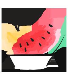 Fresh Juice Fruit Bowls